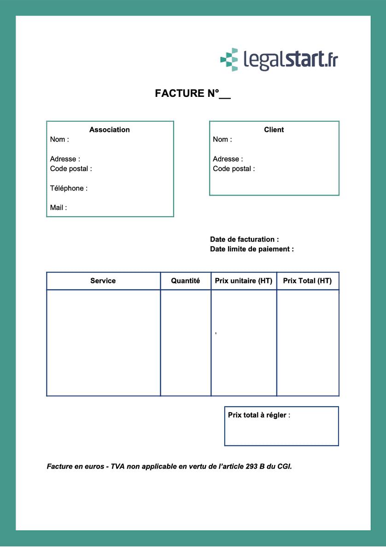 modele facture association loi 1901