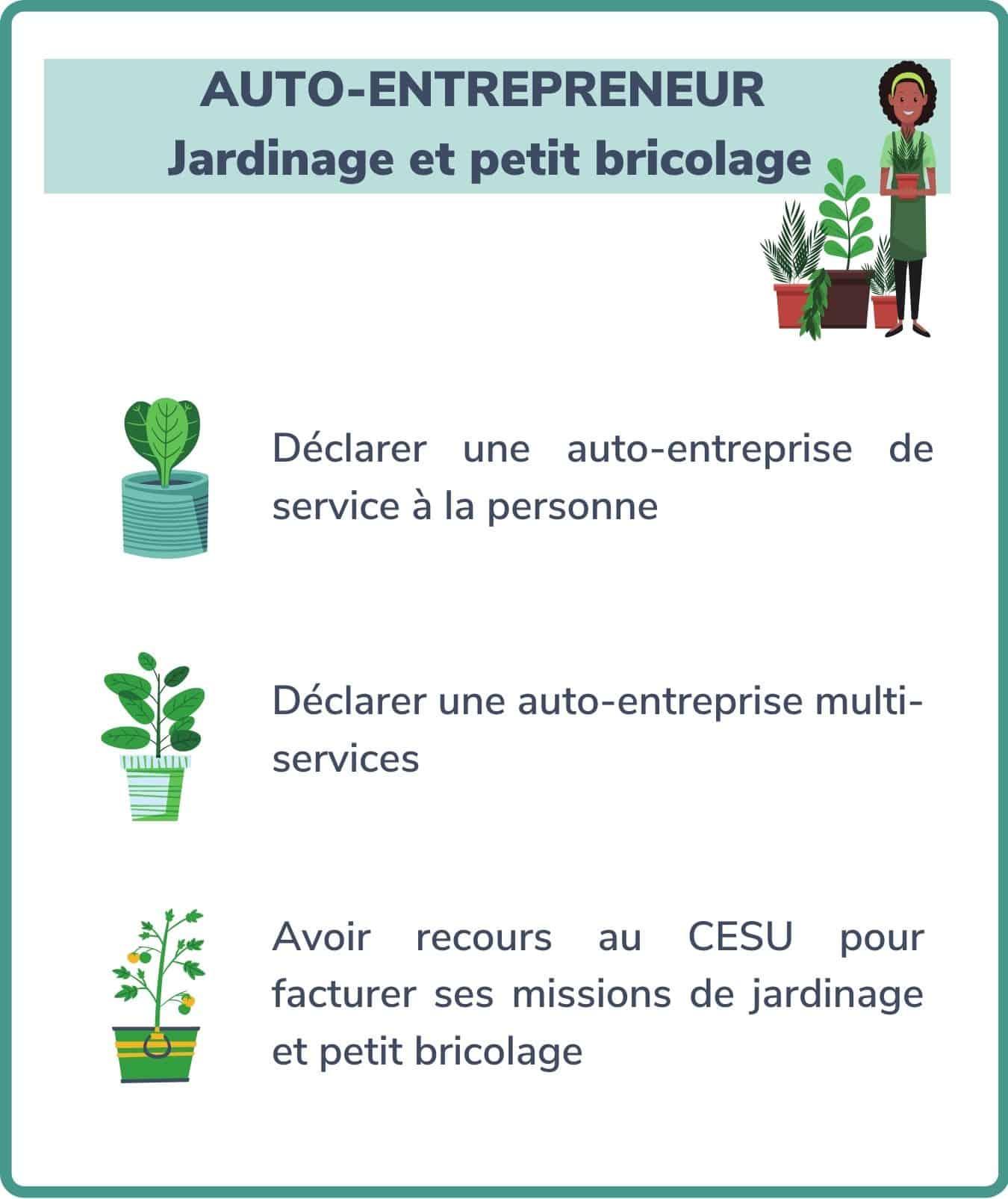 auto-entrepreneur, jardinage et petit bricolage