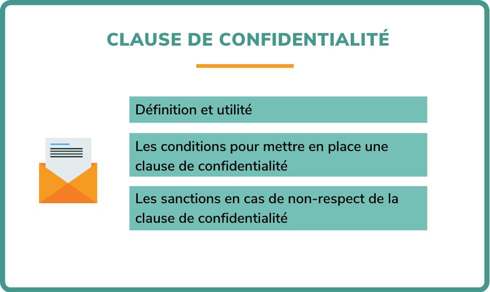 clause de confidentialité