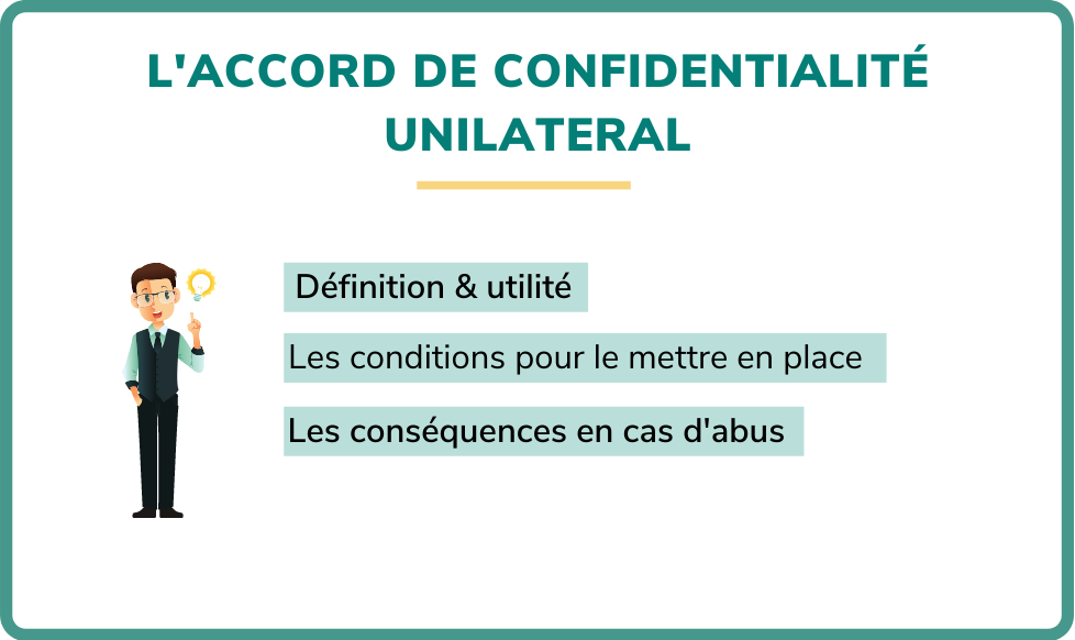 accord de confidentialité unilatéral
