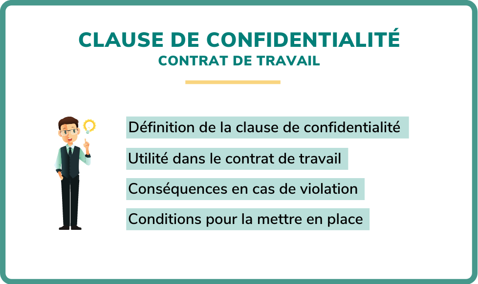 clause de confidentialité contrat de travail