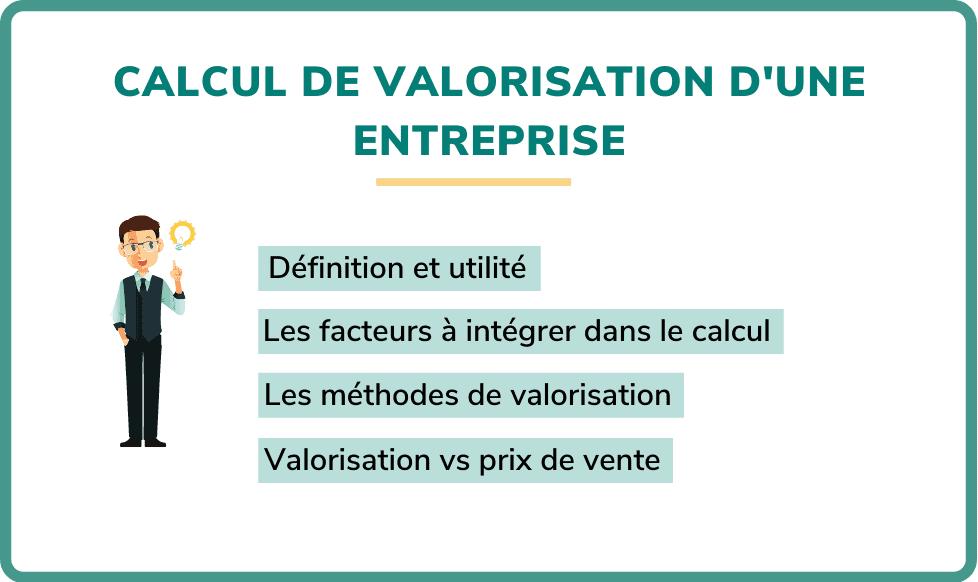 calcul valorisation d'entreprise