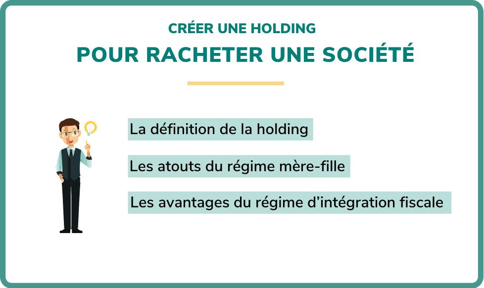 créer une holding pour racheter une société